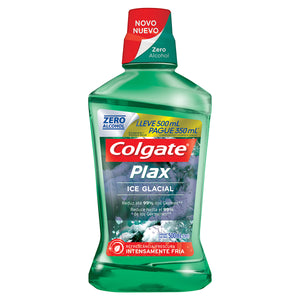 Antisséptico bucal COLGATE promo Plax Ice Glacial 500ml Pague 350ml