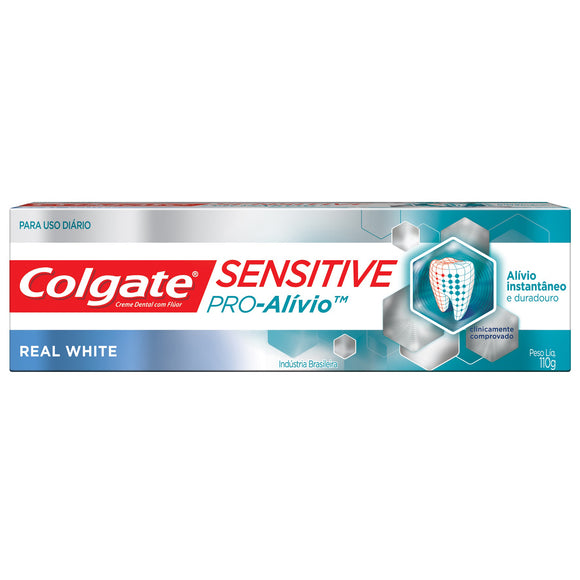 Creme dental COLGATE Sensitive Pró Alívio Real White 110g