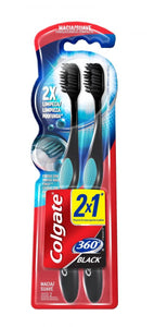 Escova dental COLGATE promo 360 Black Macia 2un Pague 1un 2 unidades
