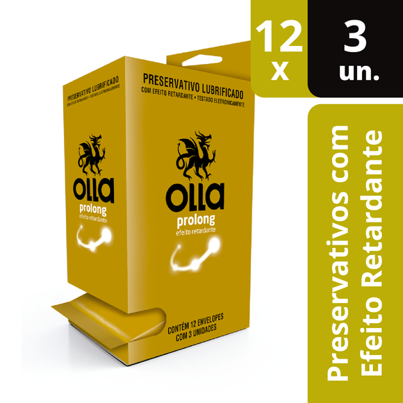 Preservativo Olla Prolong Display 12x3 Unidades