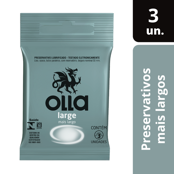 Preservativo Olla Large 3 Unidades