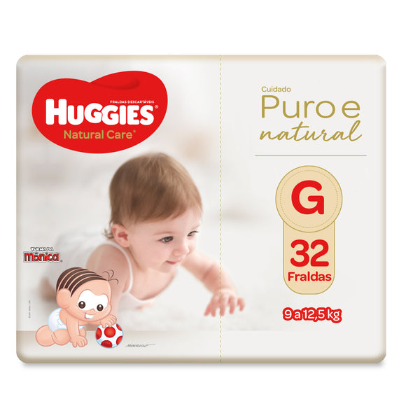 Fralda Huggies Natural Care G - 32 Fraldas