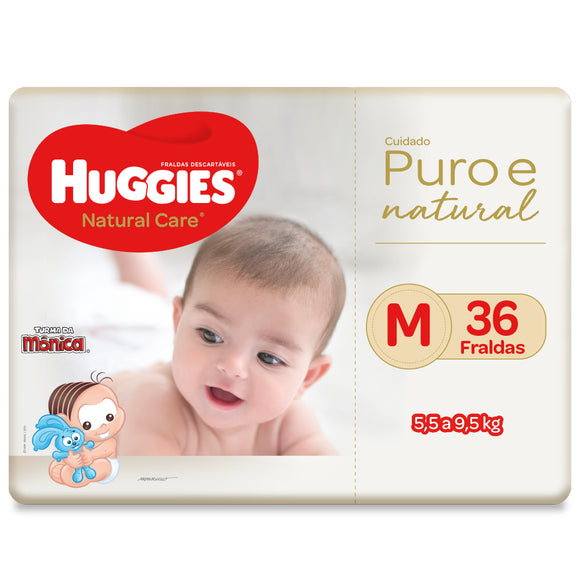 Fralda Huggies Natural Care M - 36 Fraldas