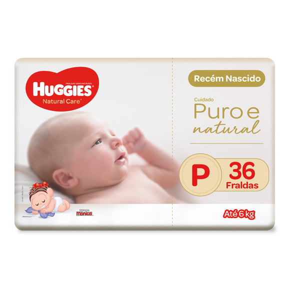 Fralda Huggies Natural Care P - 36 Fraldas