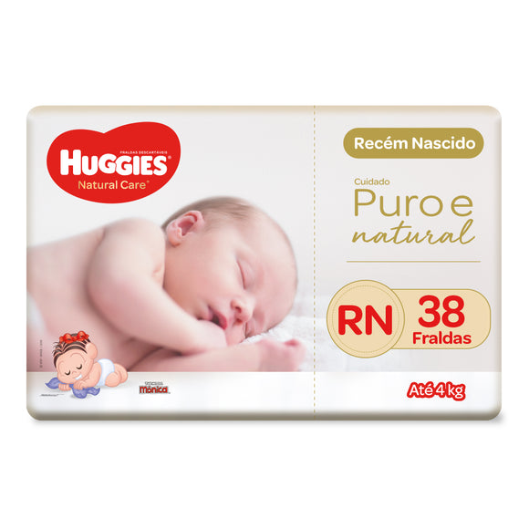 Fralda Huggies Natural Care RN - 38 Fraldas