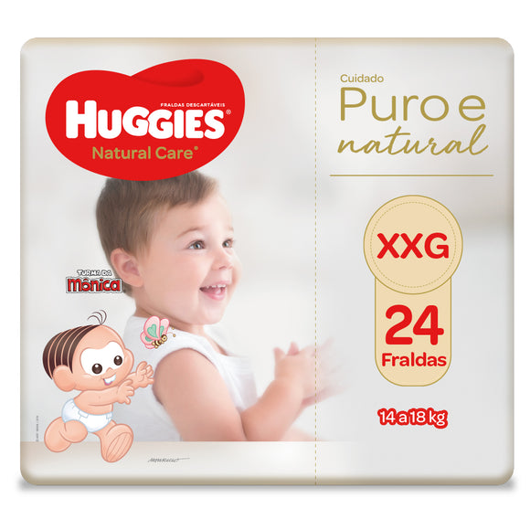 Fralda Huggies Natural Care XXG - 24 Fraldas