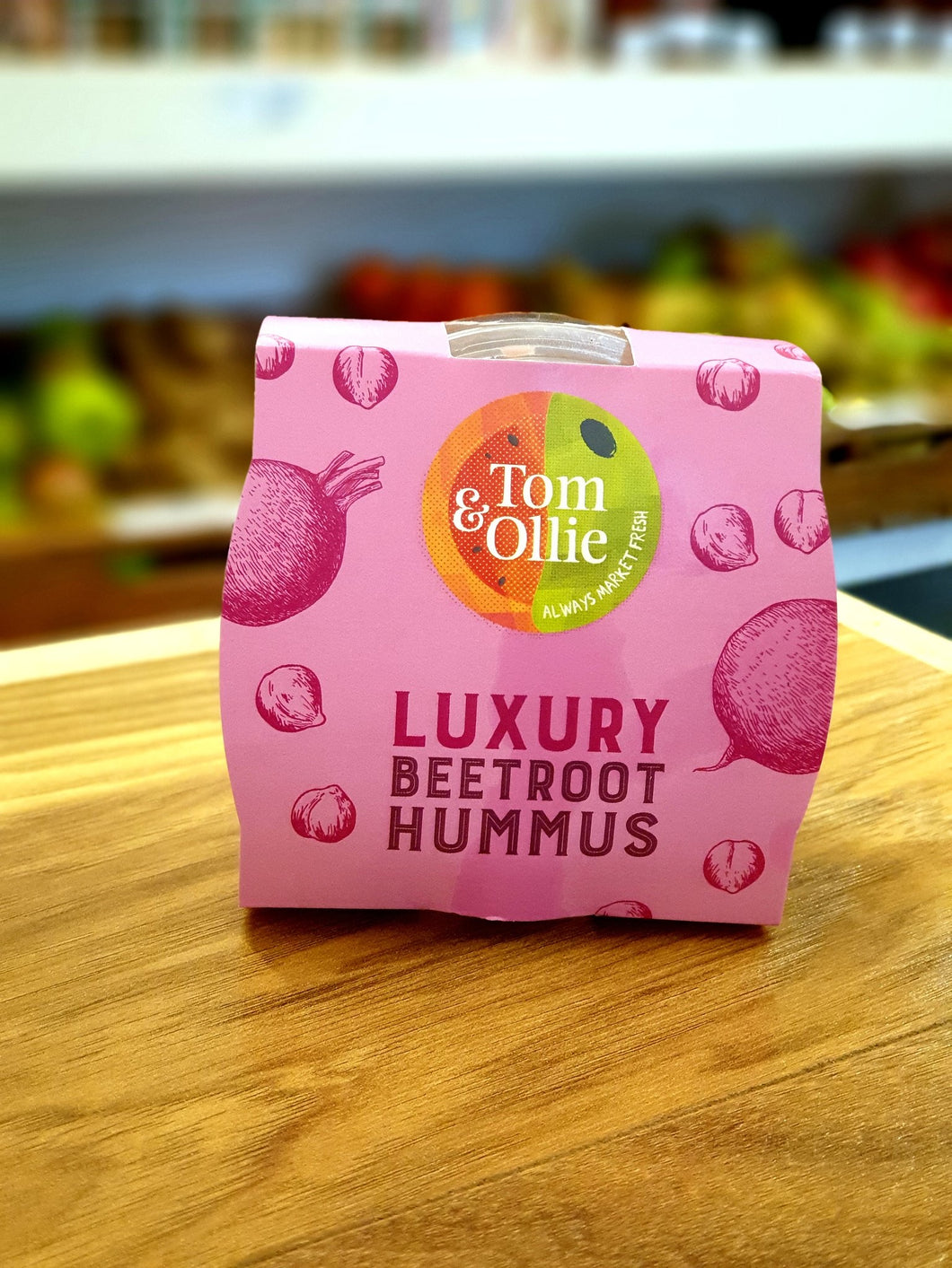 Tom & Ollie Luxury Beetroot Hummus 150g