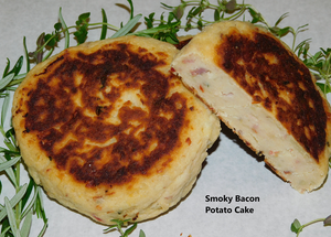 Smoky Bacon Potato cakes (price for 2)