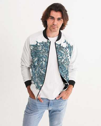 sharks spiral Men's Bomber Jacket