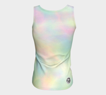 A- Tie dye Pastel 2 by Nuvula- Fitted Tank Top