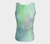 Green Blue 3D Shark- Fitted Tank Top