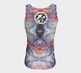 Sunset Sky Print by Nuvula- Fitted Tank Top