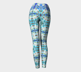 Tie dye Blue by Nuvula- Scuba-Yoga  leggings