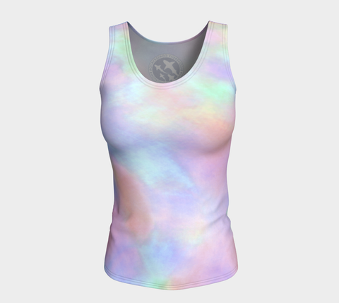 Tie dye Pastel by Nuvula- Fitted Tank Top