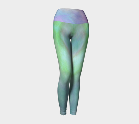 Water Illusion Print by Nuvula- Clouds Print Sky By Nuvula- High-Rise leggings