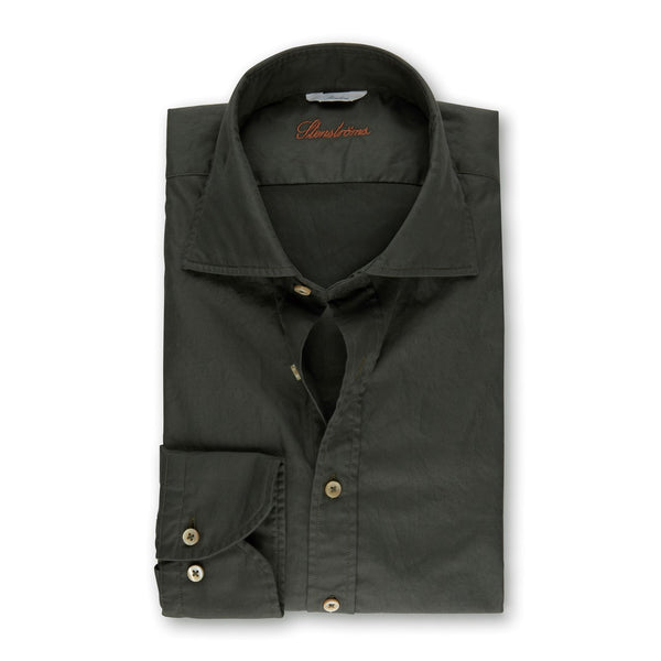 Forest Green Casual Slimline Shirt