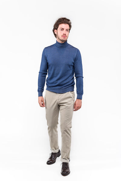 Roll Neck Gran Sasso Blue Washed
