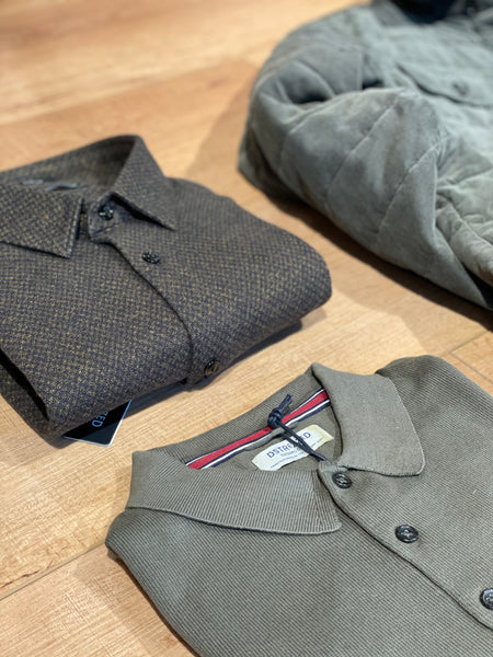 Polo lange mouw knitted army green