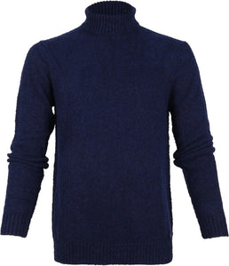 Roll neck blue industry blauw