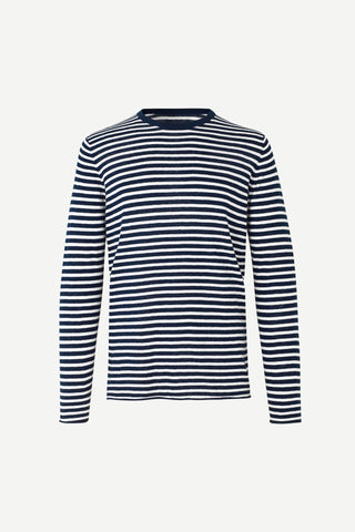 Sweater Samsoe Samsoe blue/white streep