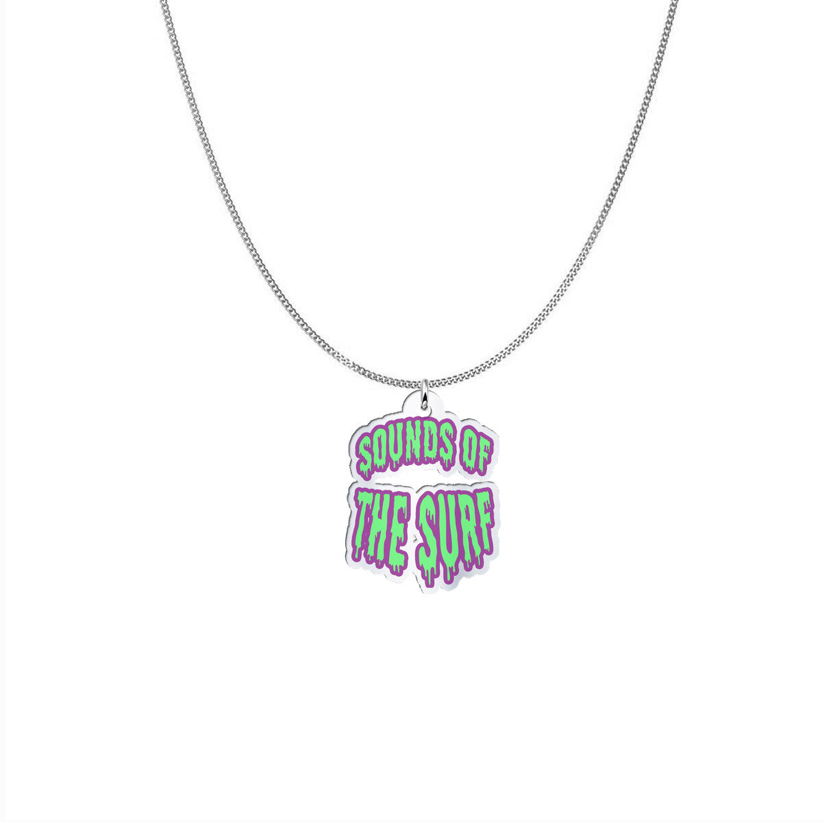 """SOUNDS OF THE SURF"" - Silver Pendant Necklace - Mode Clothing UK"