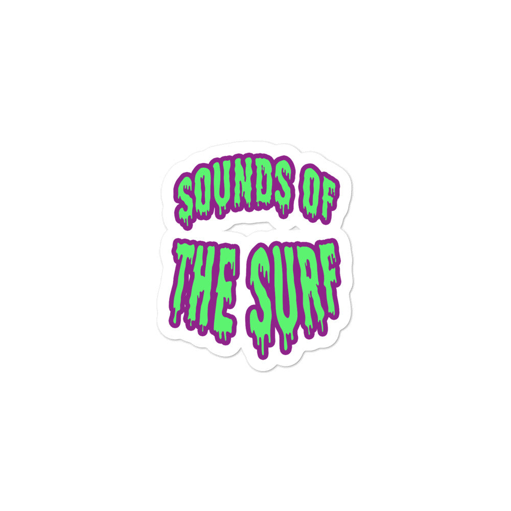 """SOUNDS OF THE SURF"" -  Graphic Bubble Sticker - Mode Clothing London"