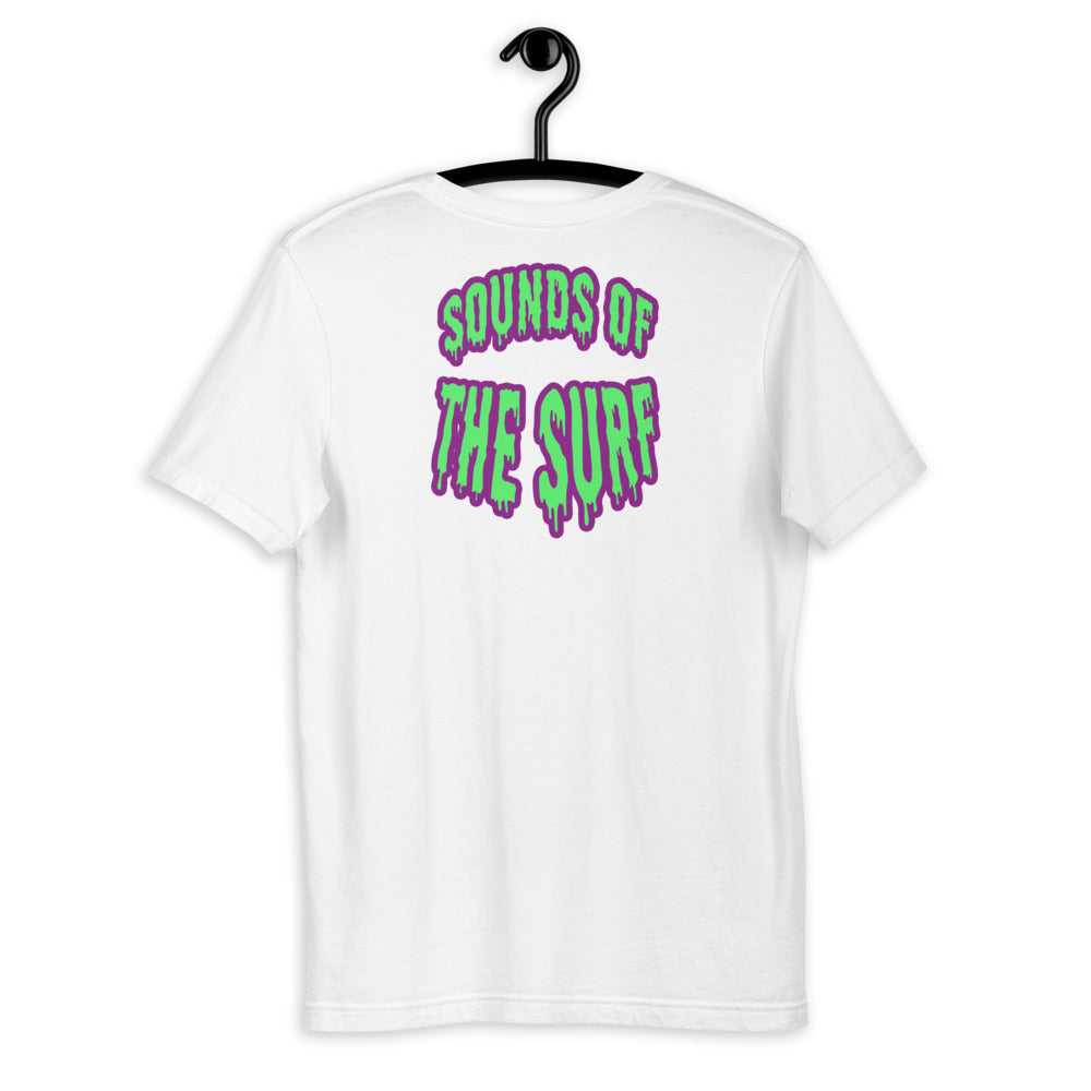 """SOUNDS OF THE SURF"" - Back Graphic T-Shirt - Mode Clothing UK"