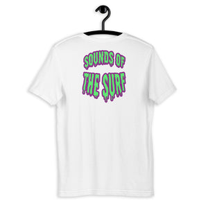 """SOUNDS OF THE SURF"" - Back Graphic T-Shirt - Mode Clothing London"