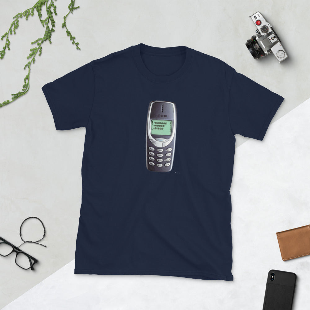 BRICK PHONE Graphic T-shirt with REW7ND Back graphic - Mode Clothing London