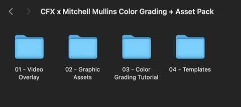 CFX x Mitchell Mullins Color Grading + Asset Pack THE CREATOR FX BUNDLE