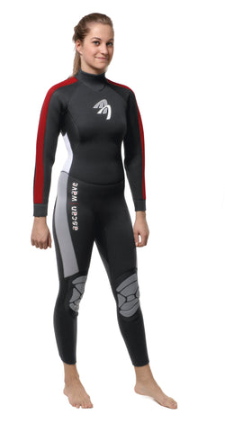 Neoprenanzug Wave Overall 5/4 mm Women ASCAN - Deep Blue Watersports