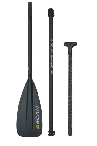 SUP-Paddel ASCAN Carbon 3-teilig - Deep Blue Watersports