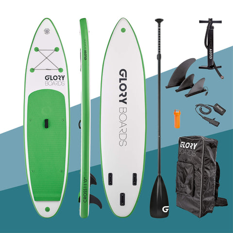 "i-SUP Glory Boards ""Cross 11'0"" grün - Deep Blue Watersports"