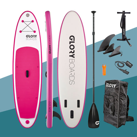 "i-SUP Glory Boards ""Fun 10'0"" pink - Deep Blue Watersports"