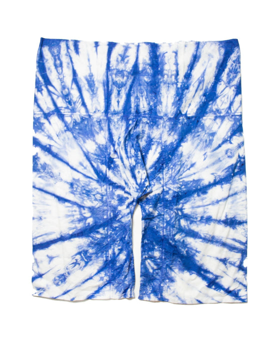 Blue pattern harem pants