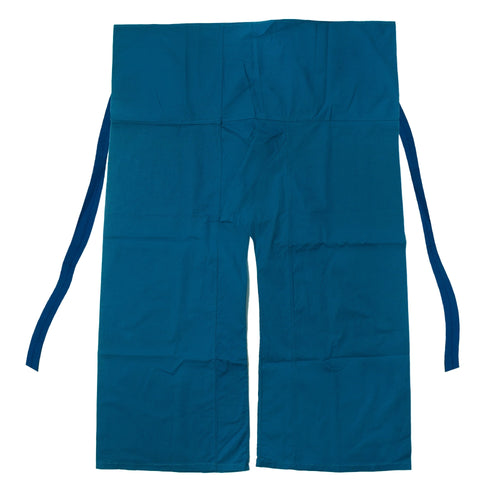 Blue wrap pants