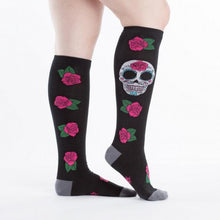 Load image into Gallery viewer, KNEE HIGH- SUGAR SKULL