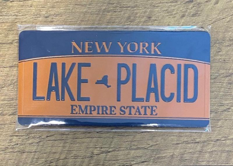 NY LICENSE PLATE MAGNET-LAKE PLACID
