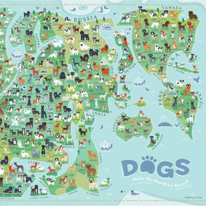 PUZZLE- DOGS AROUND THE WORLD 1000 PCS