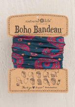 Load image into Gallery viewer, BOHO BANDEAU-NAVY BERRY MEDALLA