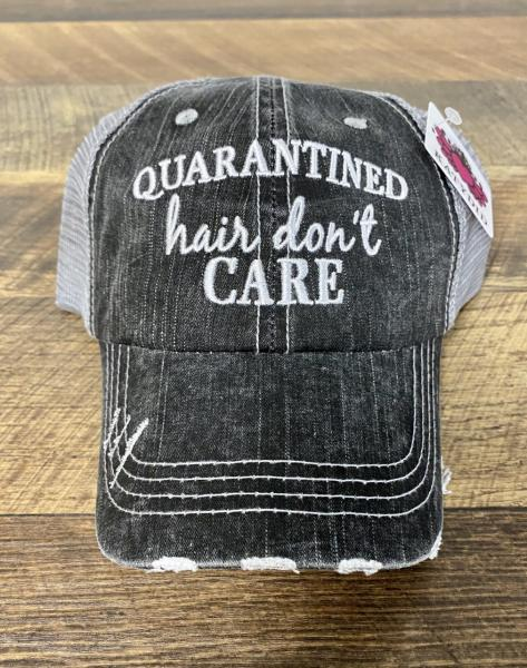 TRUCKER HAT-QUARANTINED HAIR DON'T CARE