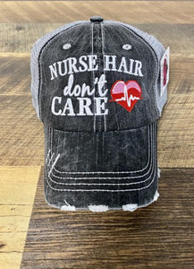 TRUCKER HAT-NURSE HAIR DON'T CARE