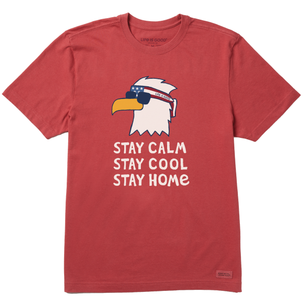 ADULT CRUSHER S/S- STAY CALM EAGLE