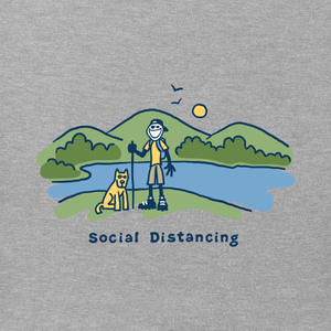 ADULT CRUSHER S/S- JAKE & ROCKET SOCIAL DISTANCING