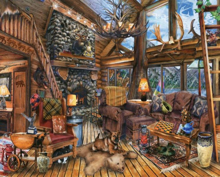 PUZZLE- THE HUNTING LODGE 1000PC