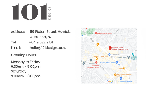 101 Design Directions and opening hours