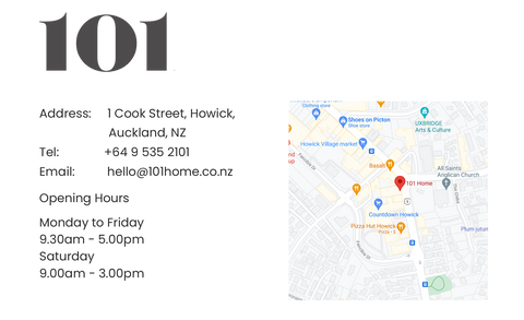101 Home Directions and opening hours