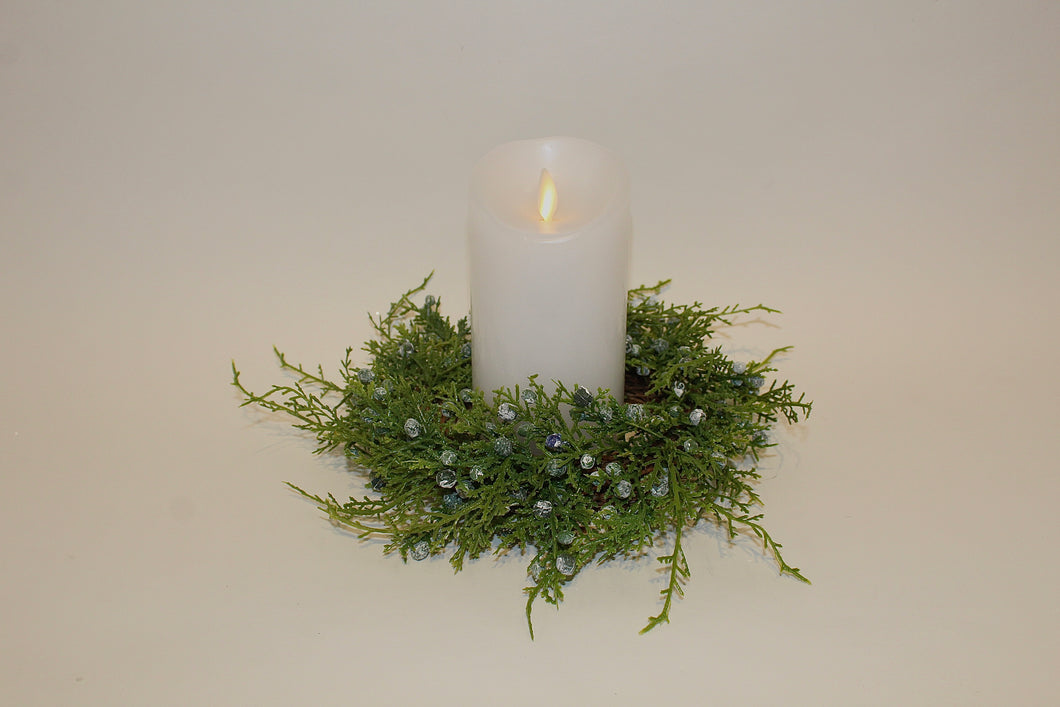 Blue Juniper Candle Ring