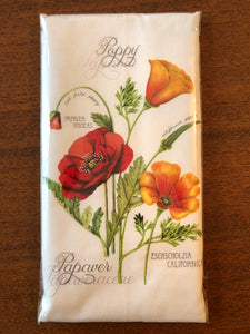 Flour Sack Kitchen Towel - Poppies