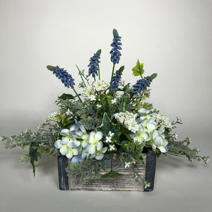 Blue Oblong Arrangement